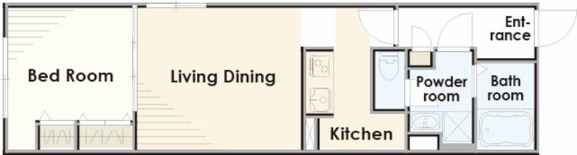 リビングとお部屋が別でプライベート空間も確保しやすいプラン