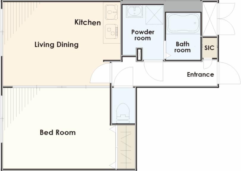 広々とした居住空間を演出できるプラン