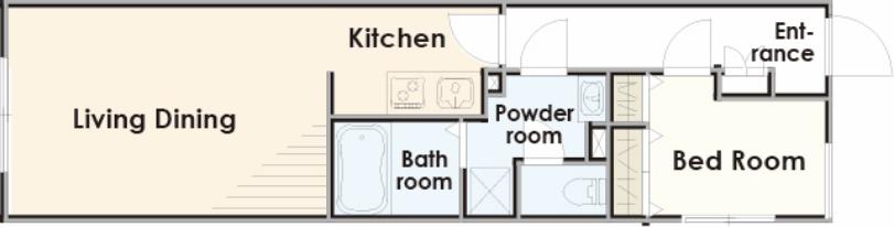 高い収納力と使いやすいアイランド型キッチンが特徴のプラン
